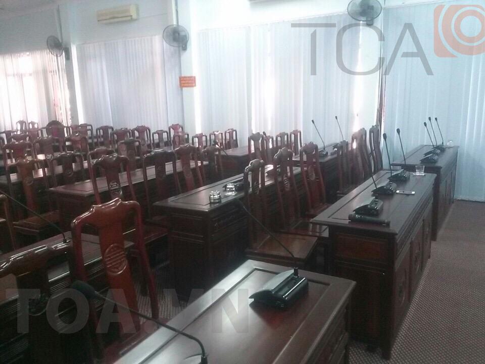 Hệ thống âm thanh hội thảo HĐND-UBND TP Bắc Ninh