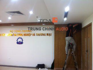 TCA lắp đặt hệ thống âm thanh cho Sở Công Thương Từ Liêm, Hà Nội