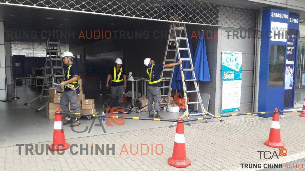 Thi công hệ thống âm thanh thông báo IP tại nhà máy Samsung
