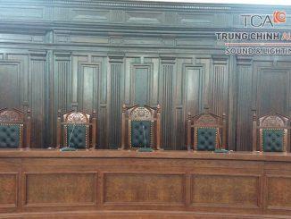Tòa án nhân dân tối cao lắp đặt hệ thống hội thảo Bosch CCS 1000D