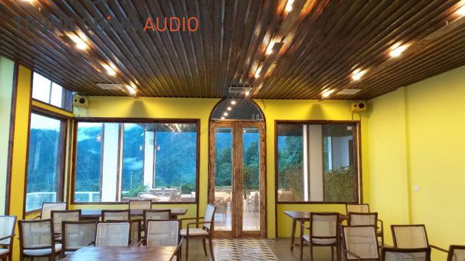 Lắp đặt dàn âm thanh nghe nhạc tại VietTrekking Home Sapa
