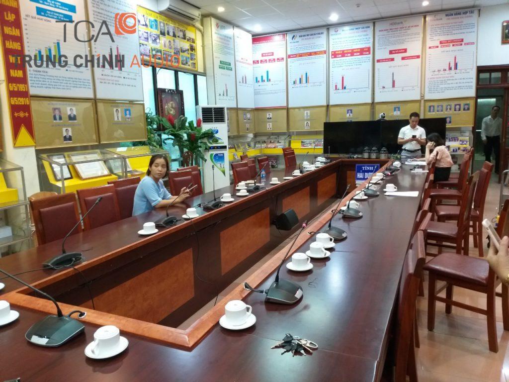Âm thanh phòng họp tại ngân hàng nhà nước Hải Dương